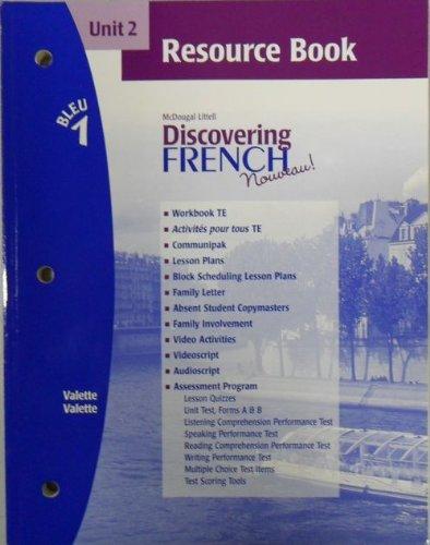 Discovering French Nouveau (Unit 2 Resource Book, Bleu 1): Valette