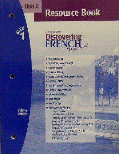 9780618298310: Discovering French Nouveau (Unit 6 Resource Book, Bleu 1)