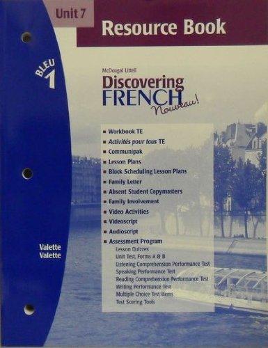 9780618298327: Discovering French Nouveau (Unit 7 Resource Book, Bleu 1)