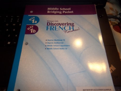 9780618298853: Discovering French: Nouveau! Middle School Bridging Packet (Bleu 1)