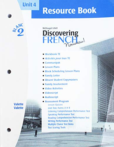 9780618298907: McDougal Littell Discovering French Nouveau: Resource Book Unit 4 Level 2