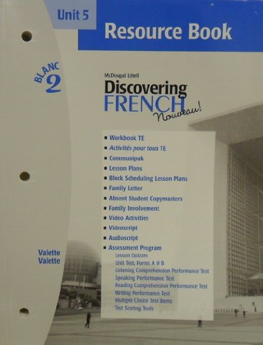 9780618298914: McDougal Littell Discovering French Nouveau: Resource Book Unit 5 Level 2