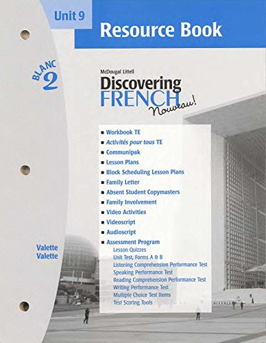 9780618298969: Discovering French Nouveau (Unit 9 Resource Book, Blanc 2)