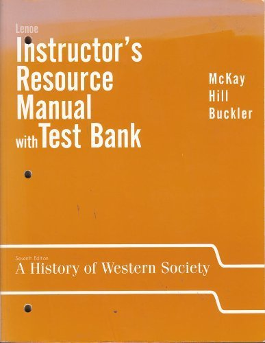 9780618299225: A History of Western Society: Instructor's Manual w/Test Bank