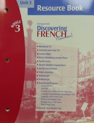 9780618299270: Discovering French Rouge 3 (Unit 3 Resource Book, Unit 3)
