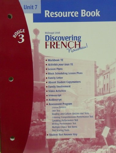 9780618299331: Discovering French Novveau (Unit 7 Resource Book, Rouge 3)