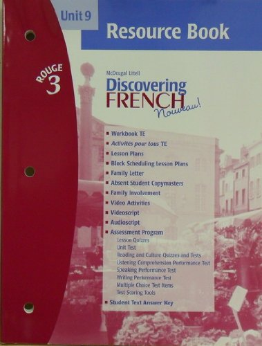 9780618299355: Unit 9, Resource Book, Discovering French (Rouge 3)