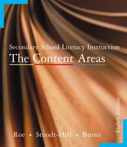 9780618299942: Secondary School Literacy Instruction: The Content Areas