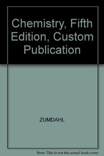 9780618303205: Chemistry, Fifth Edition, Custom Publication