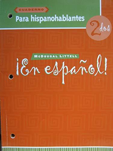 9780618304288: ¡En español!: Cuaderno para hispanohablantes (Workbook) Level 2 (Spanish Edition)