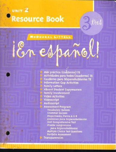 9780618304530: McDougal Littell ¡En Español!: Unit Resource Book Unit 2 Level 3 (Spanish Edition)