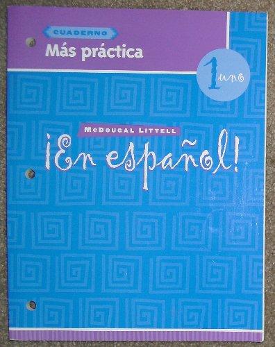 9780618304585: En Espanol: Level 1 Mas Practica Cuaderno (Spanish Edition)