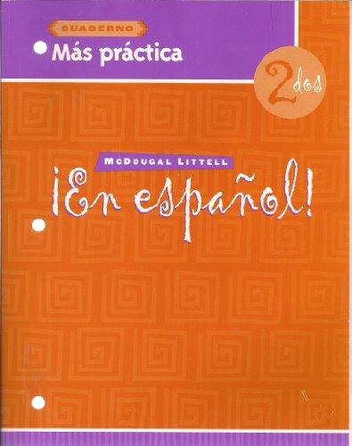 9780618304615: En Espanol: Level 2 Mas Practica Cuaderno (Spanish Edition)