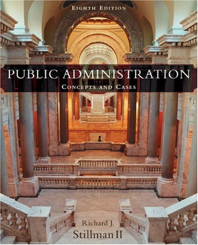 9780618310456: Public Administration: Concepts and Cases