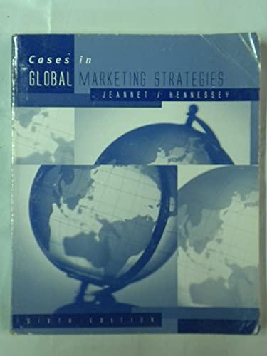 Cases in Global Marketing Strategies: Jean-Pierre Jeannet and