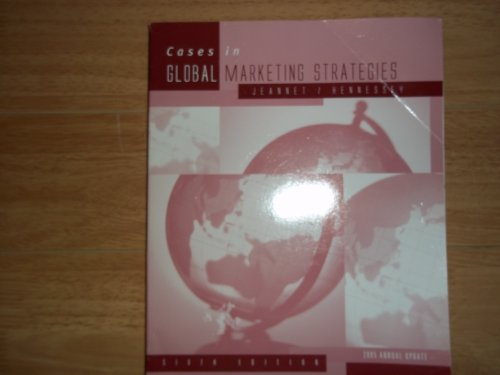 Cases in Global Marketing Strategies (2005 annual: Jeannet/Hennessey