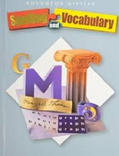 Spelling and Vocabulary Non-Consumable Level 7: Houghton Mifflin Spelling and Vocabulary: Hmsv