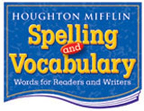 9780618311729: Houghton Mifflin Spelling and Vocabulary: Student Edition Non-Consumable Level 8 2004