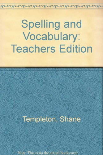 9780618311767: Spelling and Vocabulary: Teachers Edition Grade 4