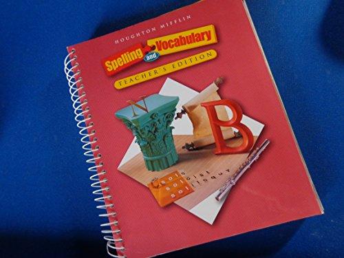 9780618311804: Houghton Mifflin Spelling and Vocabulary: Teacher's Edition Level 8 2004