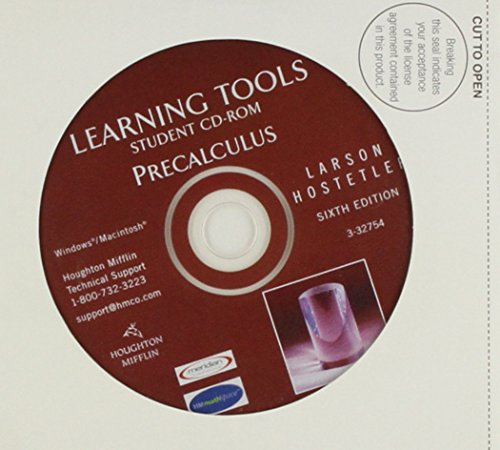 9780618314478: Learning Tools Student CD-ROM (Precalculus)
