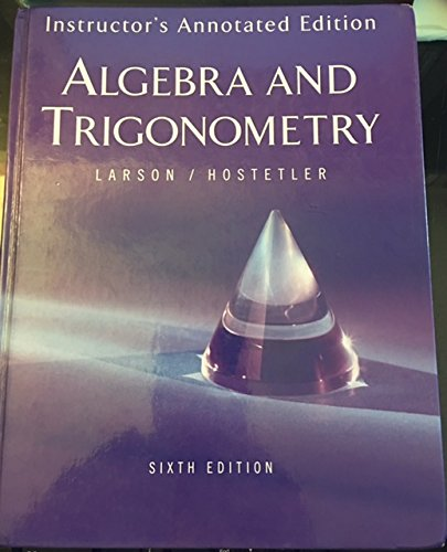 9780618317837: Houghton Mifflin Algebra and Trigonometry Teacher Edition