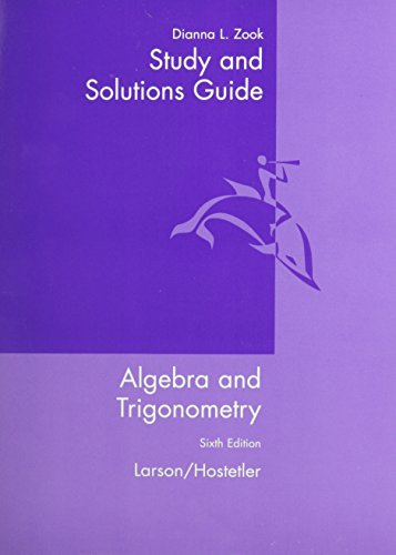 9780618317844: Study and Solutions Guide for Algebra and Trigonometry, 6th Edition