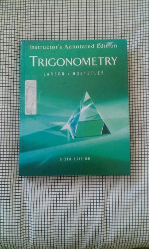 9780618317967: Trigonometry Iae 6ed