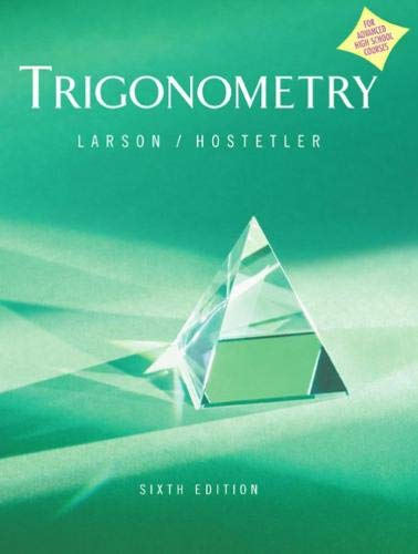 9780618317974: Trigonometry Advanced Placement Version Sixth Edition