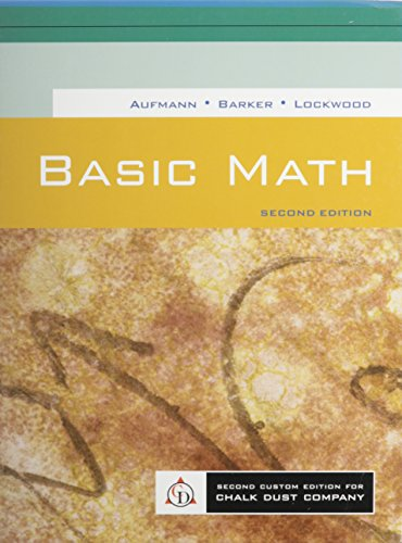 Essential Mathematics, 2nd Custom Publication: Richard N. Aufmann,