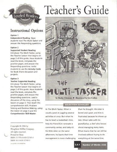 9780618327454: The Multi-Tasker, TEACHER'S GUIDE (Houghton Mifflin Leveled Reader)