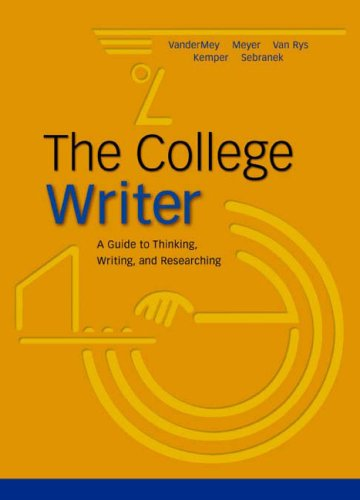 9780618329496: College Writer Hardcover