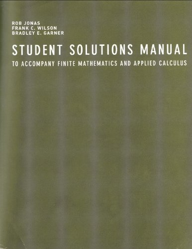 9780618333004: Student Solutions Manual for Wilson's Finite Mathematics and Applied Calculus