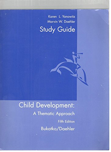 9780618333400: CHILD DEVELOPMENT SG 5ED