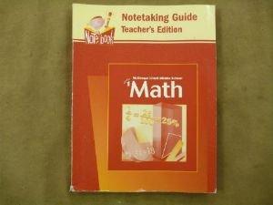 9780618334537: McDougal Littell Middle School Math, Course 1: Notetaking Guide, Teacher's Edition