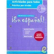 9780618334735: En Espanol: Level 3 Actividades Para Todos (Spanish Edition)
