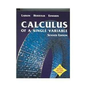 9780618336050: Calculus of a Single Variable