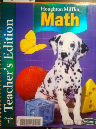 9780618338597: Houghton Mifflin Mathematics, Grade 1, Vol. 1, Teacher Edition