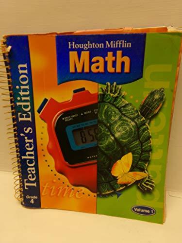 9780618338658: Houghton Mifflin Math, Grade 4, Vol. 1, Teacher's Edition