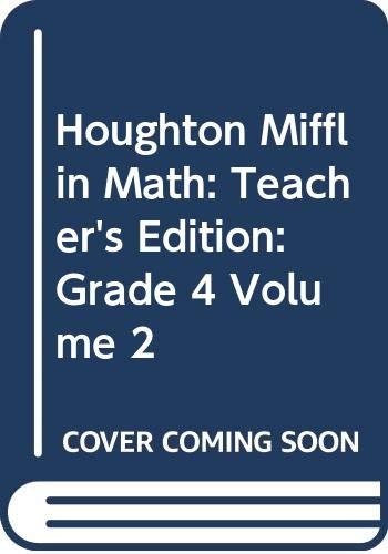 9780618338665: Houghton Mifflin Math: Teacher's Edition: Grade 4, Volume 2
