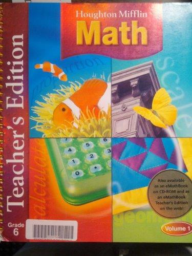 9780618338696: Houghton Mifflin Math: Teacher's Edition, Grade 6, Vol. 1