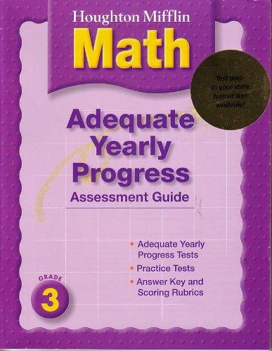 9780618339914: Houghton Mifflin Mathematics Adequate Yearly Progress Assessment Guide, Grade 3