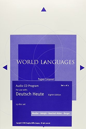 9780618340217: Audio CD-ROM Program for Moeller's Deutsch Heute: Introductory German, 8th (World Languages)