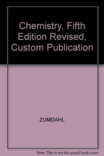 9780618343010: Chemistry, Fifth Edition Revised, Custom Publication