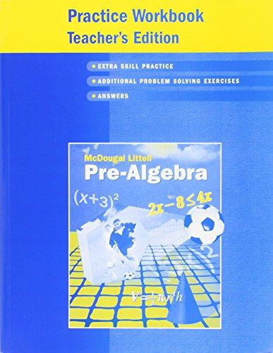9780618343638: Pre-Algebra Practice Workbook Teacher's Edition