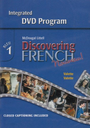 Discovering French Nouveau: Integrated DVD Program, by Littell, McDougal , Level 1, DVD-ROM ONLY: ...