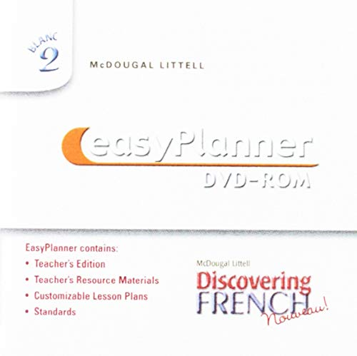 9780618345243: McDougal Littell Discovering French: Nouveau! Easy Planner, Blanc 2