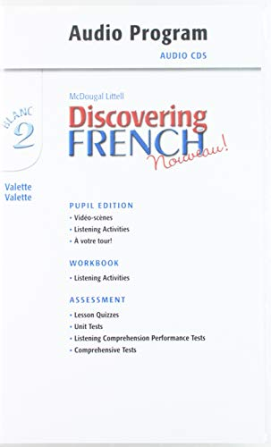 9780618345380: Discovering French, Nouveau!: Audio CD Program Level 2