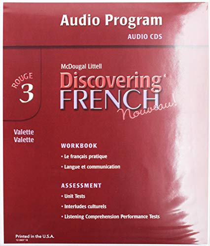 Discovering French, Nouveau!: Audio CD Program Level 3: MCDOUGAL LITTEL