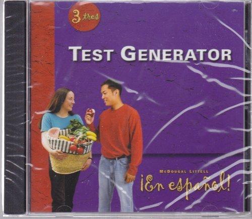 9780618345687: En Espanol Level 3 - TEST GENERATOR CD-ROM - McDougal Littell